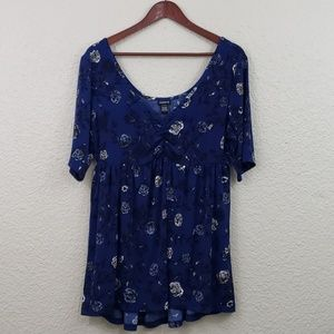 Torrid NWT Baby Doll Floral Top size 1